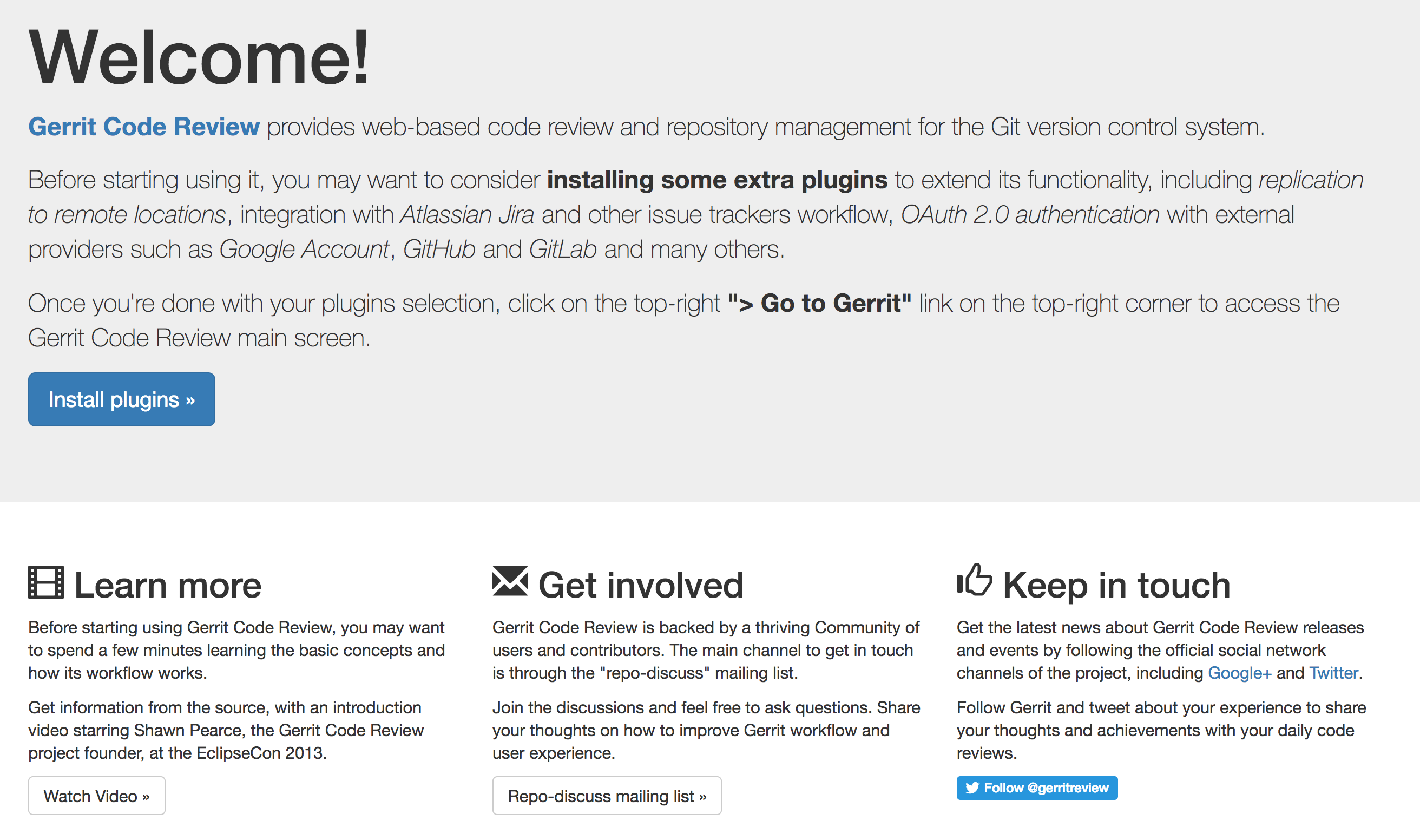 37 Is Just About Code Review Then Github Bitbucket Gitorious Gerrit