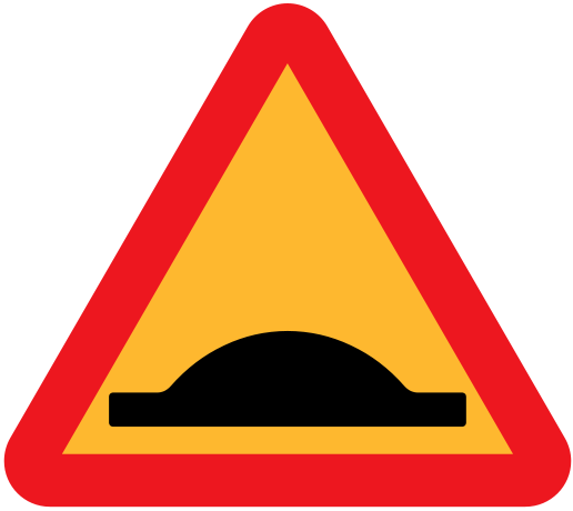 516px-Road-sign-Speed_bump.svg